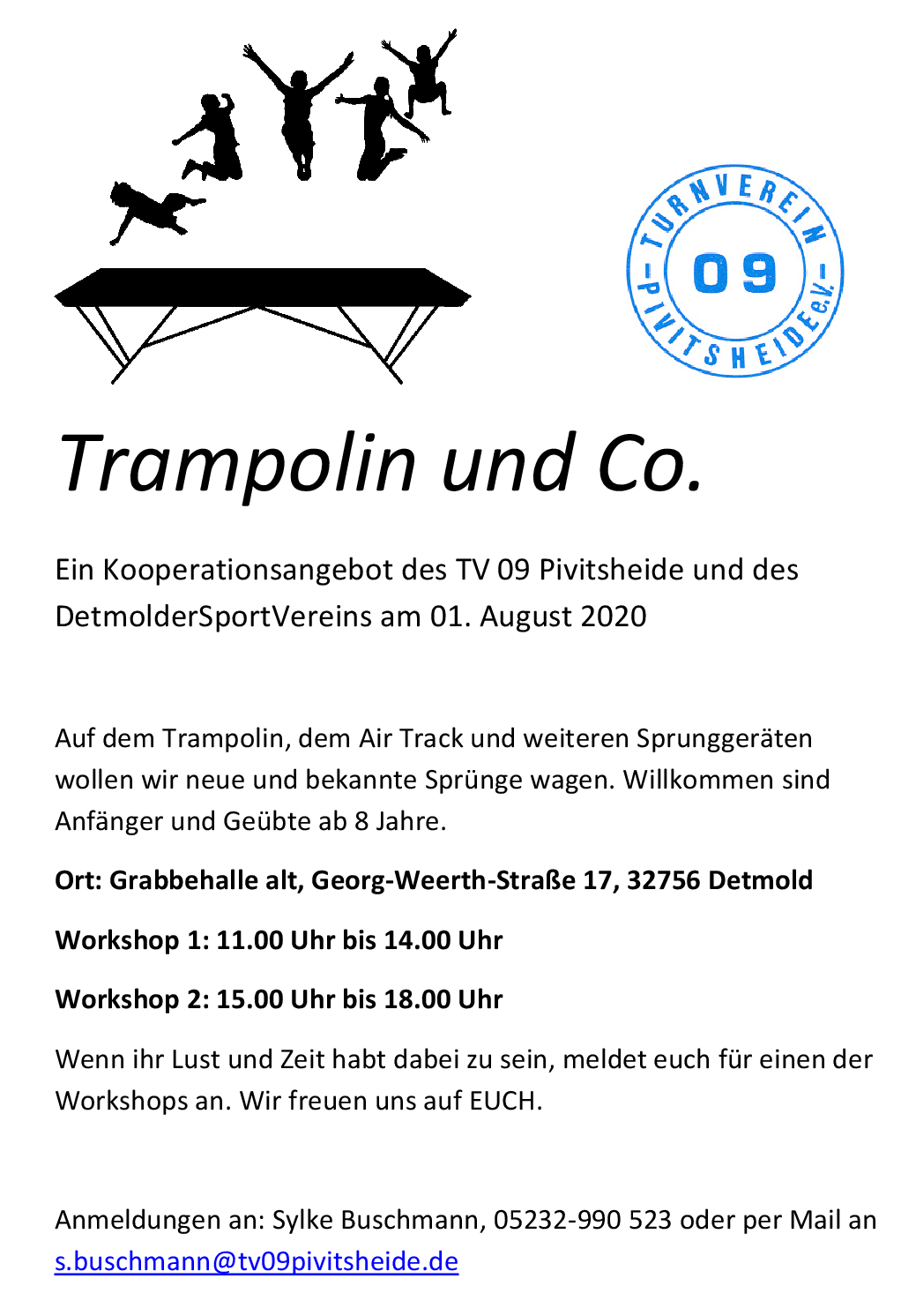 Trampolin und Co. Trampolinevent am 01.08.2020